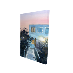 Canvas 24 x 36 - 3D - Beach house