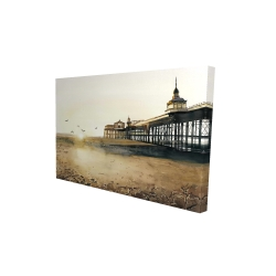 Canvas 24 x 36 - 3D - Sunset at the beach
