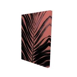 Canvas 24 x 36 - 3D - Coral tropical palm leave