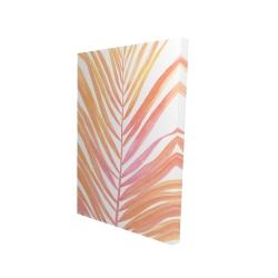 Canvas 24 x 36 - 3D - Glam palm leaf