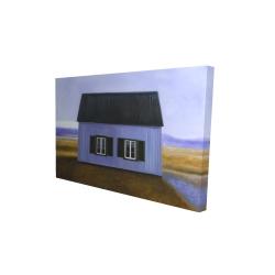 Canvas 24 x 36 - 3D - Blue barn