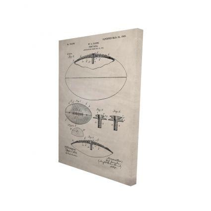 Beige blueprint of a foot ball