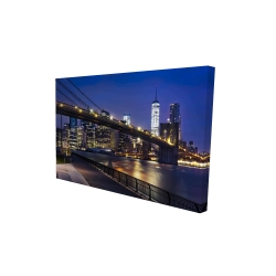 Canvas 24 x 36 - 3D - City at night