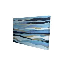 Canvas 24 x 36 - 3D - Blue sweep