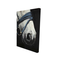 Canvas 24 x 36 - 3D - Horse with harness