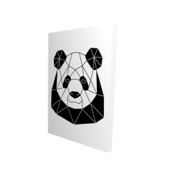 Canvas 24 x 36 - 3D - Geometric panda