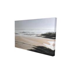 Toile 24 x 36 - 3D - Nuageux à la plage