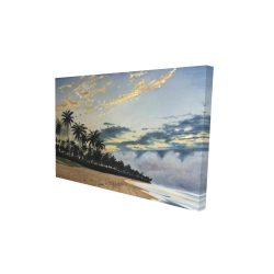 Canvas 24 x 36 - 3D - Tropical summer moments