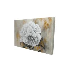 Canvas 24 x 36 - 3D - White peony