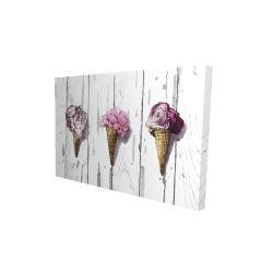 Canvas 24 x 36 - 3D - Peony cones