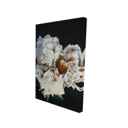 Canvas 24 x 36 - 3D - Blooming peonies