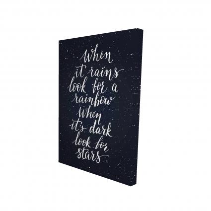 Arc-en-ciel et étoiles