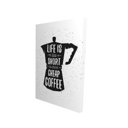 Canvas 24 x 36 - 3D - Life and coffee