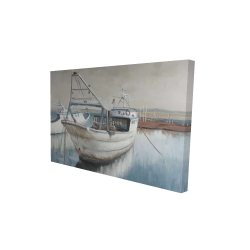 Canvas 24 x 36 - 3D - Fishing boat desatured