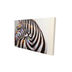 Canvas 24 x 36 - 3D - Colorful zebra