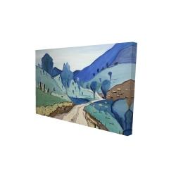 Canvas 24 x 36 - 3D - Tuscany trail