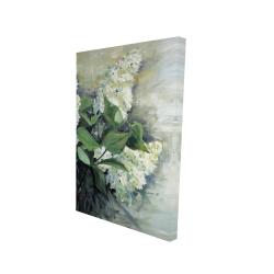 Canvas 24 x 36 - 3D - White lilacs