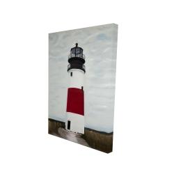 Canvas 24 x 36 - 3D - Sankaty head lighthouse