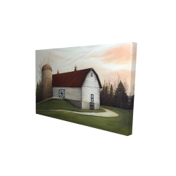 Canvas 24 x 36 - 3D - White barn view