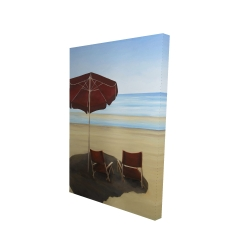 Canvas 24 x 36 - 3D - Relax at the beach