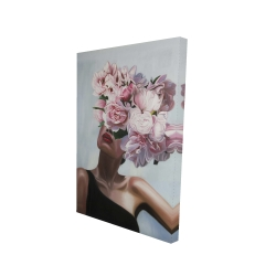 Canvas 24 x 36 - 3D - See life in flowers