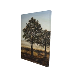 Canvas 24 x 36 - 3D - Trees in the countryside