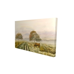 Canvas 24 x 36 - 3D - Sweet morning in the countryside