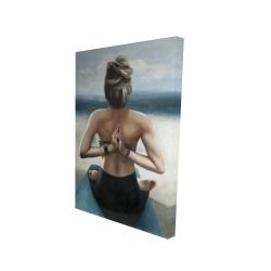 Canvas 24 x 36 - 3D - Reverse prayer pose