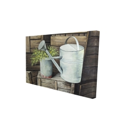 Canvas 24 x 36 - 3D - Vintage watering can