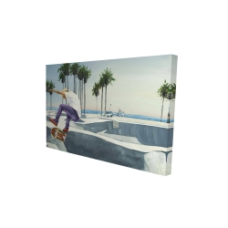 Canvas 24 x 36 - 3D - Skate park california