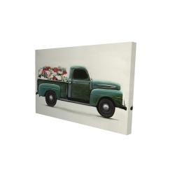 Canvas 24 x 36 - 3D - Flowers farm truck