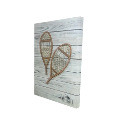 Canvas 24 x 36 - 3D - Snowshoes