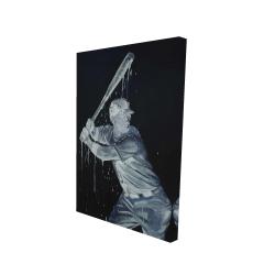 Canvas 24 x 36 - 3D - Baseball player