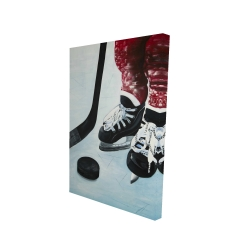 Canvas 24 x 36 - 3D - Young hockey player
