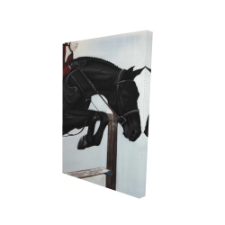 Canvas 24 x 36 - 3D - Riding competition