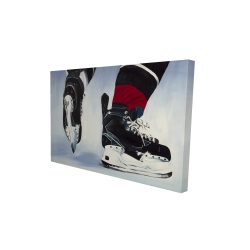 Canvas 24 x 36 - 3D - Hockey player