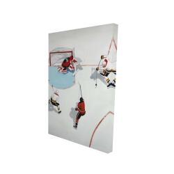 Canvas 24 x 36 - 3D - Eventful hockey game