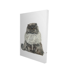 Canvas 24 x 36 - 3D - Blue gray persian cat