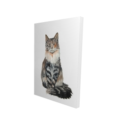 Canvas 24 x 36 - 3D - Norwegian forest cat