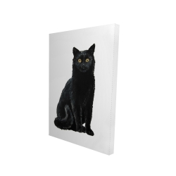 Canvas 24 x 36 - 3D - Black cat