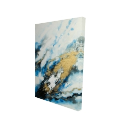 Canvas 24 x 36 - 3D - Blue and gold marble