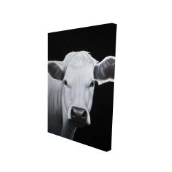 Canvas 24 x 36 - 3D - White cow