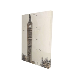 Canvas 24 x 36 - 3D - Big ben in london