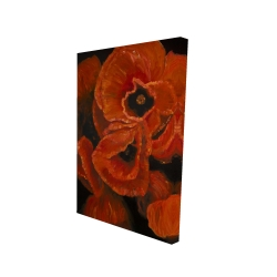 Canvas 24 x 36 - 3D - Poppy bouquet