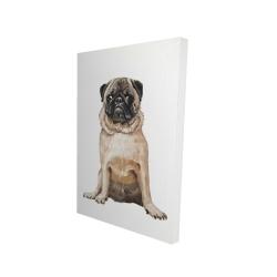 Canvas 24 x 36 - 3D - Pug