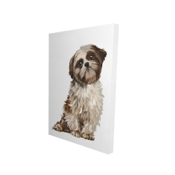 Canvas 24 x 36 - 3D - Shih-tzu