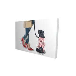 Canvas 24 x 36 - 3D - Best friends fashion