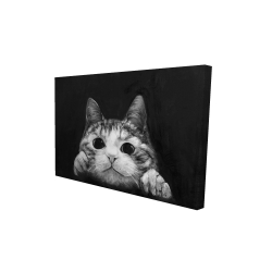 Canvas 24 x 36 - 3D - Curious cat