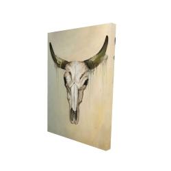 Canvas 24 x 36 - 3D - Color fading bull skull