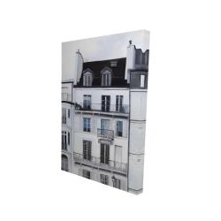 Canvas 24 x 36 - 3D - Buildings along the seine river